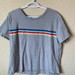 forever 21+ rainbow stripped shirt